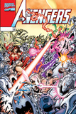 Avengers No20 Cover: Ultron  Scarlet Witch  Wonder Man  Vision  Wasp and Avengers