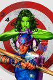She-Hulk No2 Cover: She-Hulk and Hawkeye