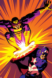 Captain America V4  No30 Cover: Captain America and Batroc The Leaper