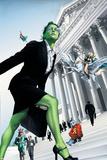 She-Hulk No7 Cover: She-Hulk and Valkyrie Fighting