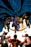 House Of M: Avengers No5 Cover: Hawkeye  Cage  Luke  Iron Fist and Cloak