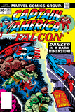 Captain America And The Falcon No202 Cover: Captain America and Falcon Fighting and Flying
