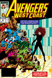 Avengers West Coast No47 Cover: Scarlet Witch  Captain America and She-Hulk