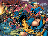 Eternals No8 Group: Wolverine  Ikaris  Beast  Vampiro  Eramis and Druig