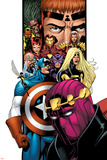 Avengers/Thunderbolts No1 Cover: Baron Zemo  Captain America  Moonstone  Hawkeye  Wasp & Avengers