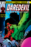Daredevil No163 Cover: Hulk and Daredevil Fighting