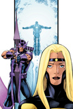 Avengers Thunderbolts No3 Cover: Moonstone and Hawkeye