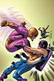 Marvel Adventures The Avengers No35 Cover: Batroc The Leaper  Hawkeye and Spider-Man