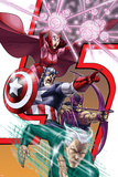 Avengers: Earths Mightest Heroes No8 Cover: Quicksilver  Captain America and Scarlet Witch