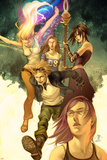 Runaways No1 Cover: Dean  Karolina  Minoru  Nico  Hayes  Molly  Stein  Chase and Runaways