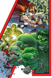 Avengers: Earths Mightiest Hero No1 Cover: Hulk  Iron Man  Thor  Ant-Man  Wasp and Avengers