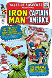 Tales Of Suspense No61 Cover: Iron Man  Captain America  Sumo and Mandarin Fighting