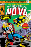Nova: Origin Of Richard Rider - The Man Called Nova No4 Cover: Nova and Thor