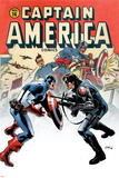 Captain America No14 Cover: Captain America and Bucky