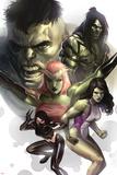 Hulk Family: Green Genes No1 Cover: Hulk  She-Hulk  Skaar  Scorpion and Daughter Of Hulk