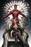 Black Widow: Deadly Origins No3 Cover: Invisible Woman and Daredevil