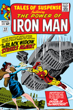 Tales Of Suspense No53 Cover: Iron Man and Black Widow Flying