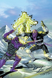 New Thunderbolts No17 Cover: Swordsman and Baron Zemo Fighting