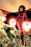 The Mighty Avengers No24 Cover: Scarlet Witch and Quicksilver