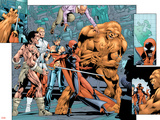 Alpha Flight No7 Group: Sasquatch  Alpha Flight  Nemesis and Yukon Jack Crouching