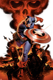 Captain America No1 Cover: Captain America  Nick Fury and Black Widow