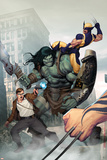 Incredible Hulk No603 Cover: Skaar  Wolverine  Banner and Bruce