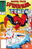 Marvel Tales: Spider-Man No227 Cover: Spider-Man and Iceman Fighting