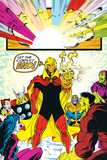 Infinity Gauntlet No6 Group: Adam Warlock  Thanos  Thor and Hulk Fighting