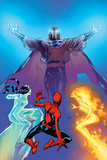 Ultimate Spider-Man No119 Cover: Spider-Man  Firestar  Iceman and Magneto