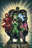 Exiles No2 Cover: Polaris  Scarlet Witch and Blink