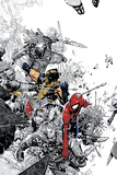 The Amazing Spider-Man No555 Cover: Spider-Man and Wolverine
