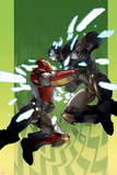 Ultimate Iron Man II No2 Cover: Iron Man and War Machine
