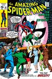Amazing Spider-Man No91 Cover: Spider-Man Fighting