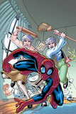 Marvel Adventures Spider-Man No13 Cover: Spider-Man  and May Parker