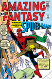 Amazing Fantasy No15 Cover: Spider-Man Swinging