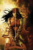 Dark Reign: Elektra No5 Cover: Elektra