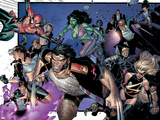 House Of M No6 Group: Wolverine  She-Hulk  Spider-Man and Warbird