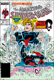 Amazing Spider-Man No315 Cover: Spider-Man and Hydro-Man