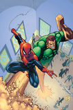 Marvel Adventures Spider-Man No6 Cover: Spider-Man and Sandman