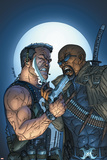 Marvel Team-Up No8 Cover: Punisher and Blade
