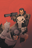 Punisher Vs Bullseye No3 Cover: Punisher and Bullseye