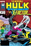 Incredible Hulk No336 Cover: Iceman  Grey  Jean  Cyclops  Hulk and X-Factor Crouching