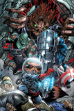 War of Kings No3 Group: Rocket Raccoon  Drax  Major Victory and Groot