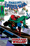 Amazing Spider-Man No90 Cover: Spider-Man and Captain Stacy Fighting