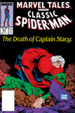 Marvel Tales: Spider-Man No225 Cover: Spider-Man and Captain Stacy Fighting