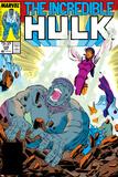 Incredible Hulk No338 Cover: Mercy and Hulk Charging