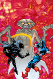 Contest Of Champions II No4 Cover: Black Panther  Captain America and Brood Fighting