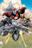 Siege No1 Group: Iron Patriot  Hawkeye  Ms Marvel  Wolverine  Spider-Man and Ares