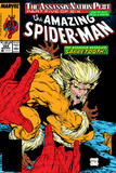 Amazing Spider-Man No324 Cover: Sabretooth and Spider-Man