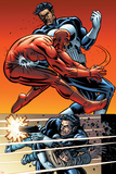 Daredevil Vs Punisher No5 Cover: Daredevil and Punisher